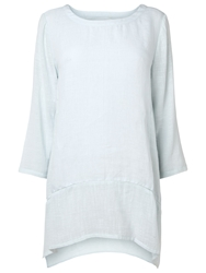 Phase Eight Una Textured Linen Blouse Vapour Blue