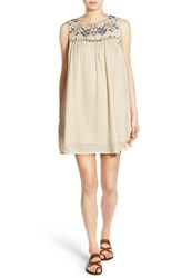 Rip Curl Women's 'Daydream' Embroidered Shift Dress Natural