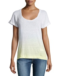 Candc California C And C California Ombre Rolled Cuff Tee Sunny Lime