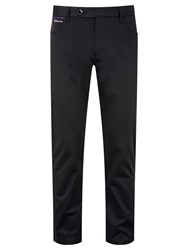 Bunker Mentality Straight Leg Casual Tailored Trousers Black