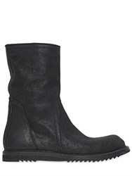 Rick Owens Zipped Crust Leather Boots