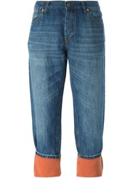 Marni Cropped Washed Jeans Blue