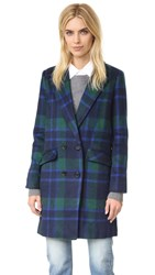 J.O.A. Plaid Coat Blue Multi