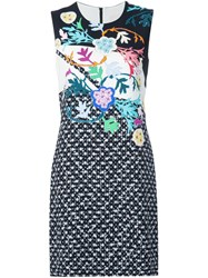 Peter Pilotto Floral Print Shift Dress Black