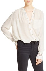 Free People Women's 'The Best' Button Front Blouse Ivory