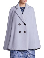 Lafayette 148 New York Rosanna Alpaca And Virgin Wool Cape Coat Crystal Blue