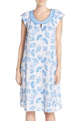 Women's Midnight By Carole Hochman Print Cotton Nightgown Fantasy