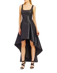 Nicole Miller New York Sleeveless High Low Fit And Flare Dress Black
