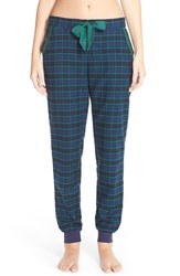 Women's Make Model Flannel Jogger Pants Green Pinecone Kimberly Plaid