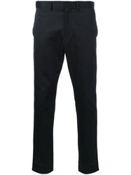 H Beauty And Youth. Formal Straight Leg Trousers Black