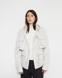 Christophe Lemaire Convertible Parka Light Grey