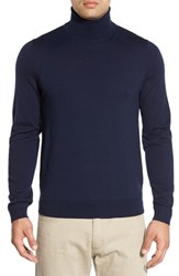 John W. Nordstromr Men's Big And Tall Nordstrom Wool Turtleneck Sweater Navy Night