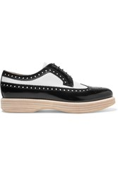 Church's Opal Two Tone Glossed Leather Brogues Black