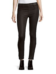 True Religion Solid Cotton Blend Leggings Butter Black