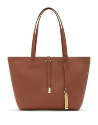 Vince Camuto Leila Small Leather Tote Cognac