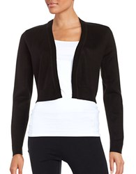 Tommy Hilfiger Open Cropped Cardigan Black