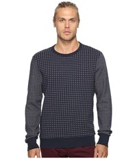 Ben Sherman Long Sleeve Semi Plain Crew Sweat Top Navy Blazer Men's Long Sleeve Button Up