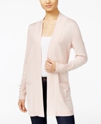Jm Collection Open Front Cardigan Only At Macy's Polished Nude