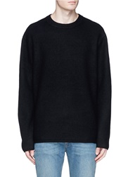 Acne Studios 'Micha' Side Zip Boiled Wool Sweater