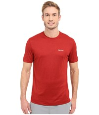 Marmot Conveyor S S Tee Team Red Heather Men's T Shirt