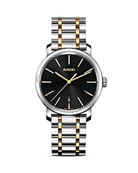 Rado Diamaster Xl Quartz Carbon Diffused Stainless Steel And Rose Gold Pvd Watch 40Mm