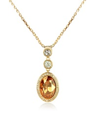 A Z Collection Gold Plated Triple Drop Necklace