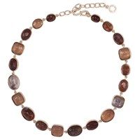 Goossens Paris Rock Crystal Necklace Brown