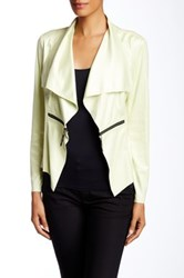 Insight Cracked Faux Leather Zipper Jacket White