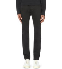 Vince Regular Fit Straight Leg Sateen Jeans Black