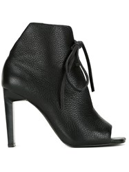 Manning Cartell Open Toe Ankle Boots Black