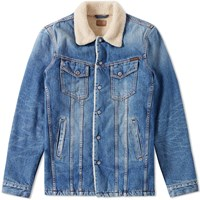 Nudie Jeans Lenny Lined Denim Jacket Blue