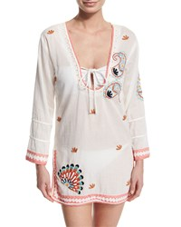 Letarte Embroidered Caftan Coverup Women's