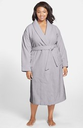 Nordstrom Plus Size Women's Terry Velour Robe Grey Micro