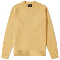 Beams Plus 5 Gauge Crew Knit Yellow