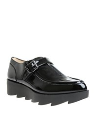William Rast Dee Patent Leather Platform Oxfords Black