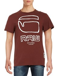 Guess Graphic Tee Bordeaux