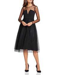 Bcbgeneration Illusion Detail Dress Bloomingdale's Exclusive Black