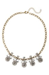 Junior Women's Bp. Floral Crystal Statement Necklace