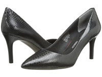 Rockport Total Motion 75Mm Pointy Toe Pump Nero Python High Heels Black