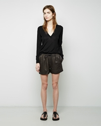 Alexander Wang Tailored Hybrid Leather Track Short Equipment