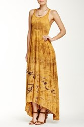 American Twist Hi Low Tie Dye Maxi Dress Multi