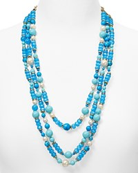 Kate Spade New York Azure Allure Multi Strand Necklace 24 Turquoise Multi