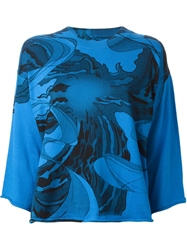 Mm6 By Maison Martin Margiela Abstract Print Shirt Blue