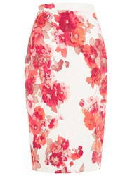 Damsel In A Dress Preppy Pencil Skirt Cream Red