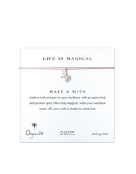 Dogeared Life Is Magical Silver Unicorn Make A Wish Necklace