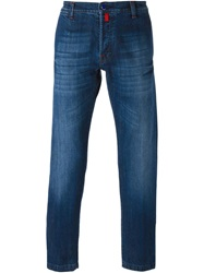 Kiton Five Pocket Design Jeans Blue