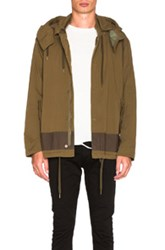 Robert Geller Vincent Hooded Bomber In Green
