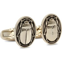Paul Smith Scarab Beetle Gold Tone Cufflinks Gold