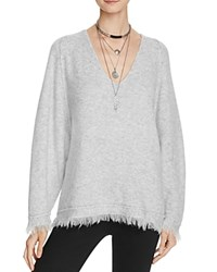 Free People Irresistible V Neck Sweater Grey