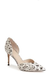 Women's Marc Fisher Ltd 'Tammy' D'orsay Pump Beige Black Snake Print